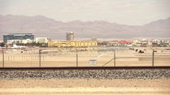 McCarran Airport Airfield with runway Stock Footage