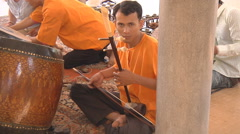 Musicians playing traditional instruments at Phnom Penh in Cambodia Stock Footage