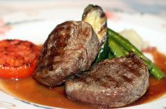 Gourmet Dinner Stock Photos