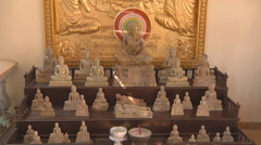 Statuettes at the Royal Palace complex in Phnom Penh, Cambodia Stock Footage