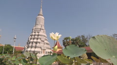 Stupa at the Royal Palace complex in Phnom Penh, Cambodia Stock Footage