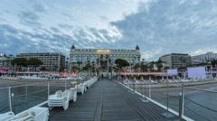 Cannes Boardwalk - stock footage