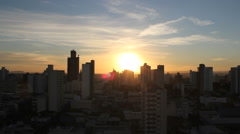 City view. Sunset timelapse. Sun setting - stock footage