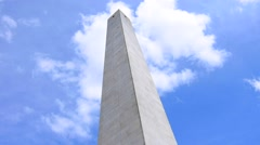 Bunker Hill Monument with sky and clouds Stock Footage