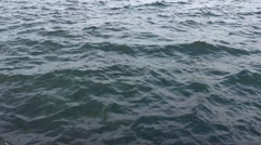 Time lapse choppy waves in ocean Stock Footage