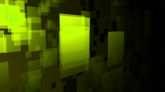 green flying square - stock footage