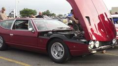 Classic Car Show Summer 2015 Toronto Stock Footage