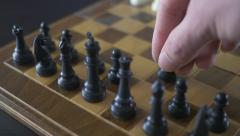 4K Moving Black Pawn Chess Piece  Stock Footage