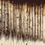 Wooden texture background, Realistic plank. Vector illustration. Stock Illustration