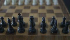 4K Chess Board Pieces Ready To Play Stock Footage