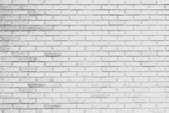 White brick wall background and texture Stock Photos