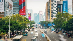 Shenzhen traffic Day timelapse Stock Footage