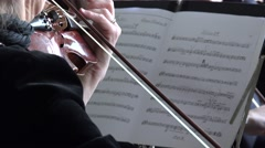 Orchestra with leader and people audience applause. 4K Stock Footage