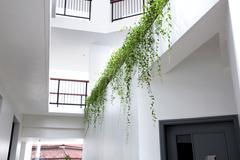 Modern minimalist design of a hotel Stock Photos