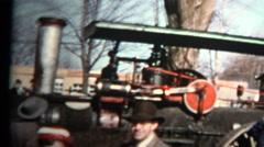 1957 - Locomotive Train Engine Public Exhibit Stock Footage