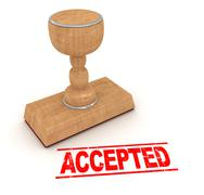 Rubber Stamp - Accepted - stock illustration