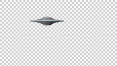 Flying saucer using a green force field - Alpha channel Stock Footage