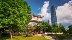 Shenzhen Lychee park timelapse. Lizhi Gongyuan Stock Footage