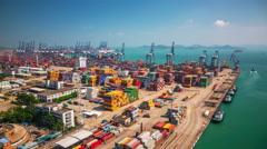 Shenzhen port Timelapse Stock Footage