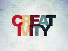 Stock Illustration of Marketing concept: Creativity on Digital Paper background