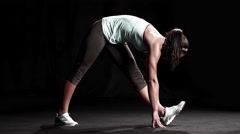 Black Woman stretching Stock Footage