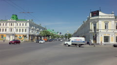 Lubinsky Avenue - the historic part of the city on Lenin Street Stock Footage
