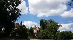 Vajdahunyad Castle in Budapest, Hungary Stock Footage