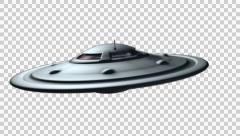 Drunk flying saucer - Alpha channel Stock Footage