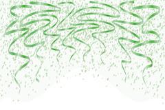 Falling green confetti Piirros
