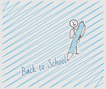 Back to school with one person Stock Illustration