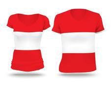 Stock Illustration of Flag shirt design of Austria