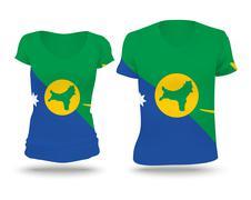 Flag shirt design of Christmas Island - stock illustration