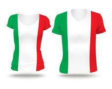 Flag shirt design of Italy Stock Illustration