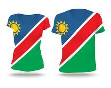 Flag shirt design of Namibia Stock Illustration