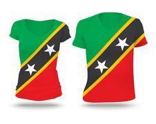 Flag shirt design of Saint Kitts and Nevis Stock Illustration