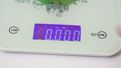 Digital kitchen scale Stock Footage