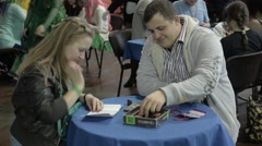 People play board games Stock Footage