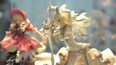 Anime doll figurines - stock footage