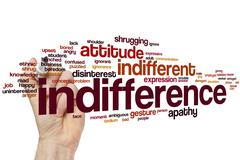 Indifference word cloud - stock photo