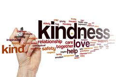 Kindness word cloud - stock photo
