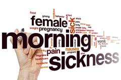 Stock Photo of Morning sickness word cloud