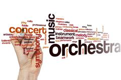 Orchestra word cloud - stock photo