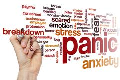 Panic word cloud Kuvituskuvat