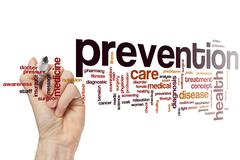 Prevention word cloud - stock photo