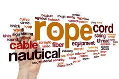 Rope word cloud - stock photo