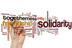 Solidarity word cloud - stock photo
