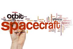 Spacecraft word cloud Stock Photos