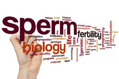 Sperm word cloud - stock photo