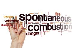 Spontaneous combustion word cloud Stock Photos