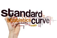 Stock Photo of Standard curve  word cloud